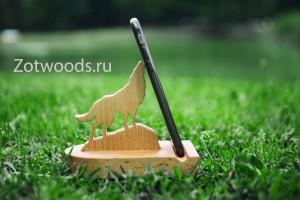 Подставка для телефона своими руками из дерева в виде волка
