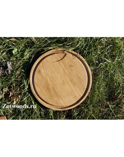 Cервировочная доска круглая 300мм с канавкой