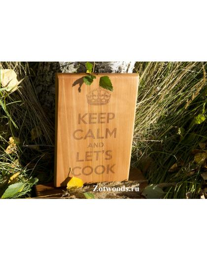 """Разделочная доска  - """"Keep Calm"""""""