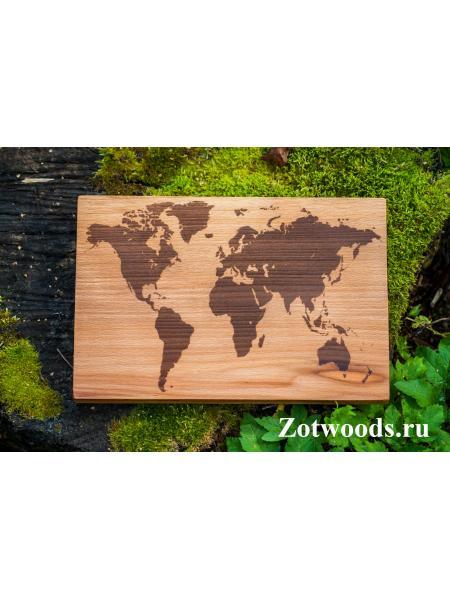 """Разделочная доска  - """"Карта мира"""""""