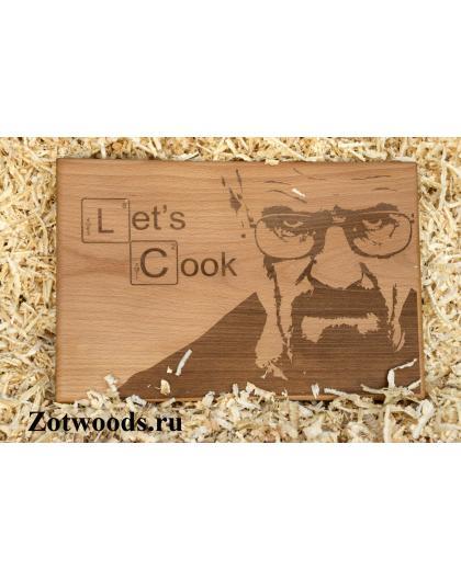 """Разделочная доска  - """"Let's Cook"""""""