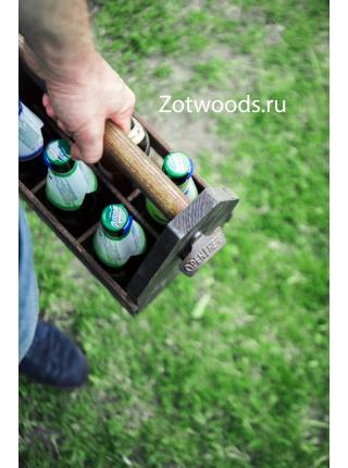 Переноска для 6 бутылок 0,5 литра из дерева