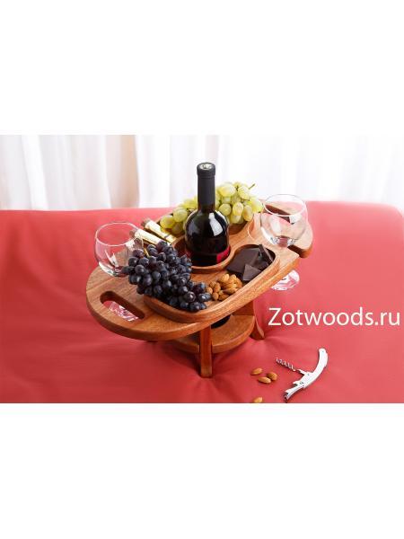 Винница из дерева на два бокала из красного дерева