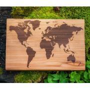 """Разделочная доска """"Карта мира"""""""