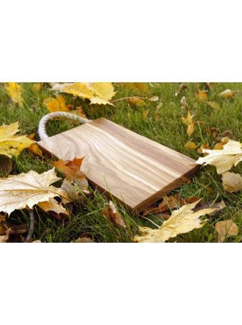 """Разделочная деревянная доска - """"С ручкой из джута"""""""