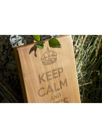 "Разделочная доска из дерева ""KEEP CALM"""